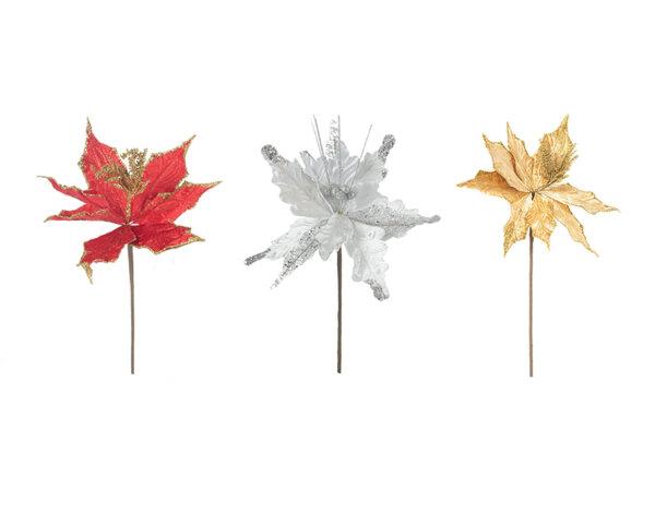 Коледно цвете KY-23512, 48 cm - различни цветове