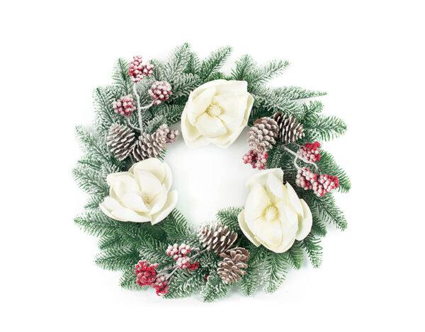 Коледен венец KY-23782 - 45 cm
