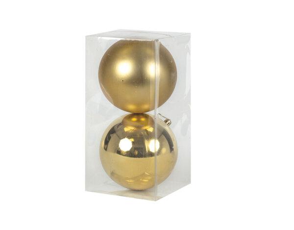 Коледна топка KY-24279, ø11 cm - различни цветове, 2 бр.