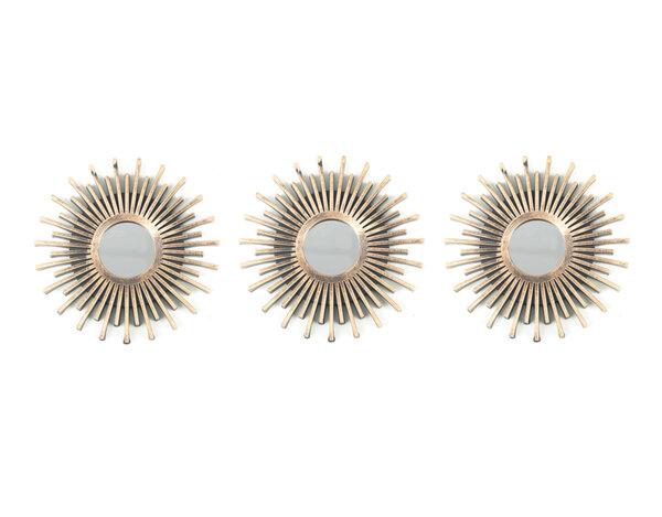 Комплект декоративни огледала KY-24328 - ø25 cm, 3 бр.