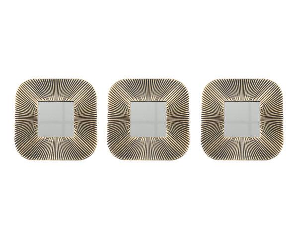 Комплект декоративни огледала KY-24329 - ø25 cm, 3 бр.