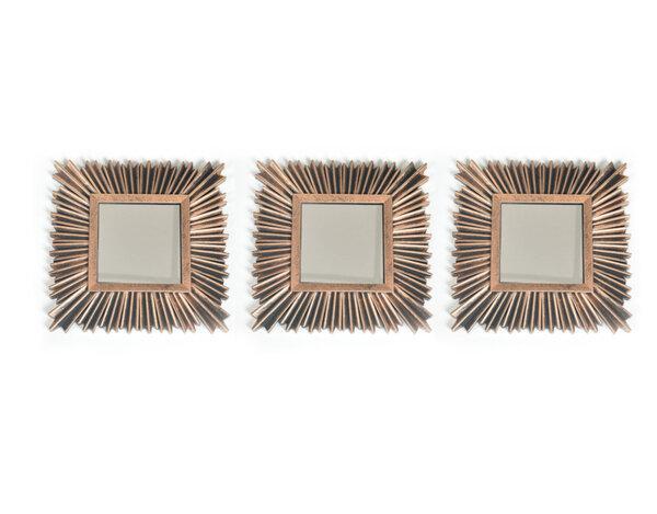 Комплект декоративни огледала KY-24338 - 25 cm, 3 бр.