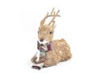 Коледно еленче с шалче - 37 cm