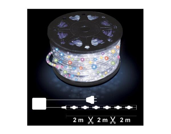 Светещ маркуч, 2 линии - 24 разноцветни LED лампички на метър