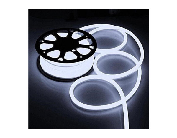 Светещ маркуч с UV защита - 24 топло бели LED/диодни (SIM) лампички на метър