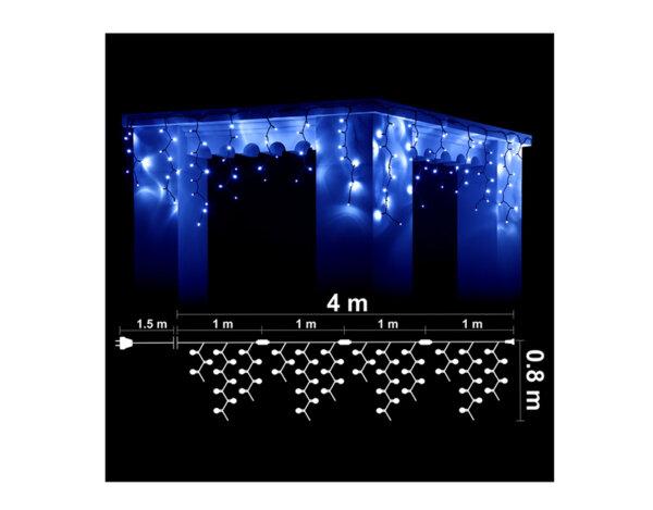 Висулка, сини светлини и бял кабел - 4 x 0.80 m, 152 LED лампички