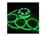 Светещ неонов маркуч - 120 зелени LED/диодни (SIM) лампички на метър
