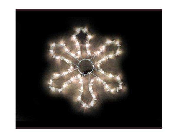 Светеща снежинка - 35 cm, 48 топло бели LED лампички