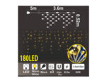 Висулка, топло бели светлини и черен кабел - 3.6 х 0.52 m, 180 LED лампички