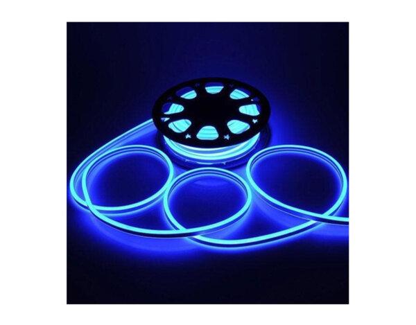 Светещ неонов маркуч - 120 сини LED/диодни (SIM) лампички на метър