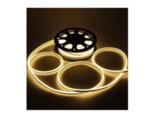 Светещ неонов маркуч - 120 топло бели LED/диодни (SIM) лампички на метър