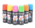 Парти спрей със силиконова лента - различни цветове, ø4.5 x 15.5 cm