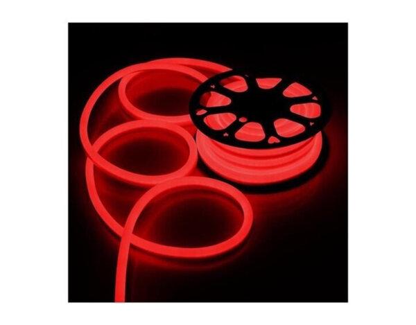 Светещ неонов маркуч - 120 червени LED/диодни (SIM) лампички на метър