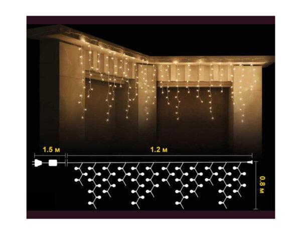 Висулка, топло бели светлини и зелен кабел - 1.2 x 0.8 m, 100 RICE лампички