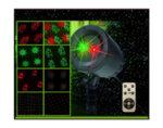 """Фасаден лазерен прожектор """"Движещи се фигури"""" - до 10 m², с дистанционно"""