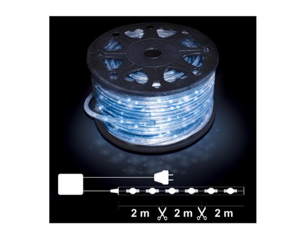 Светещ маркуч, 2 линии - 32 сини RICE лампички на метър