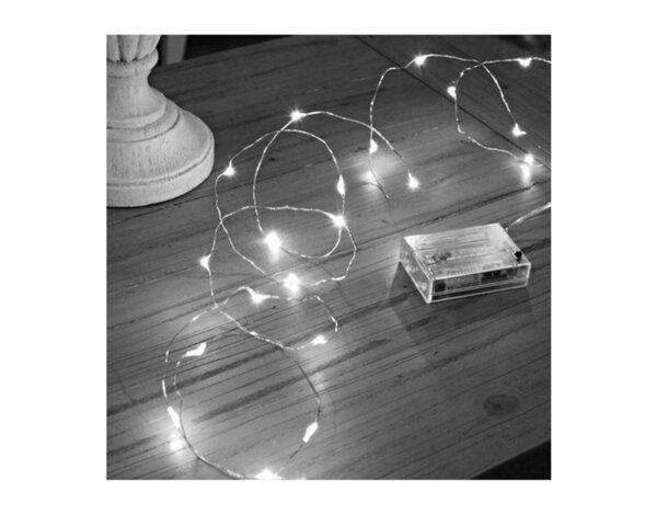"""Светещ гирлянд """"Купър"""", бял, 3 m - 30 LED лампички"""