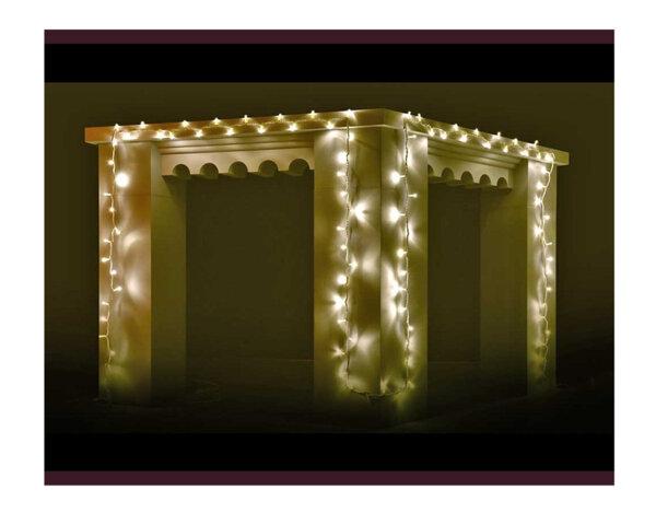 Гирлянд от 100 LED лампички - топло бели светлини, 10 m