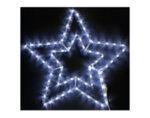 Светеща двойна звезда - 55 cm, 150 бели LED лампички