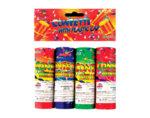 Парти конфети, 4 бр. - цветни ленти, ø3 x 12 cm