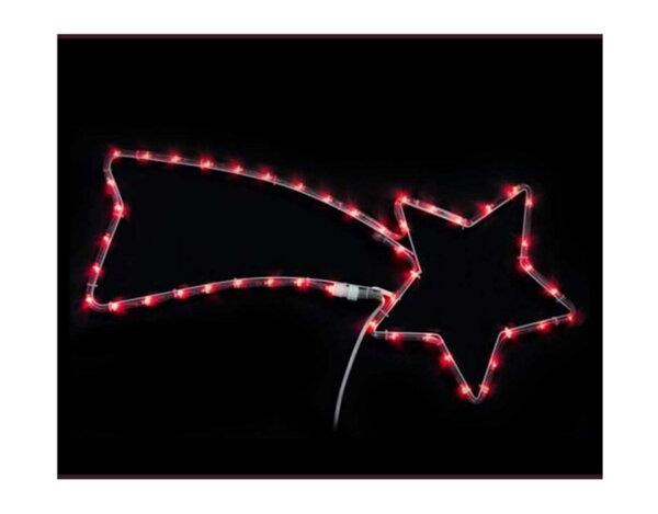 Светеща комета - 30 x 70 cm, 100 червени LED лампички