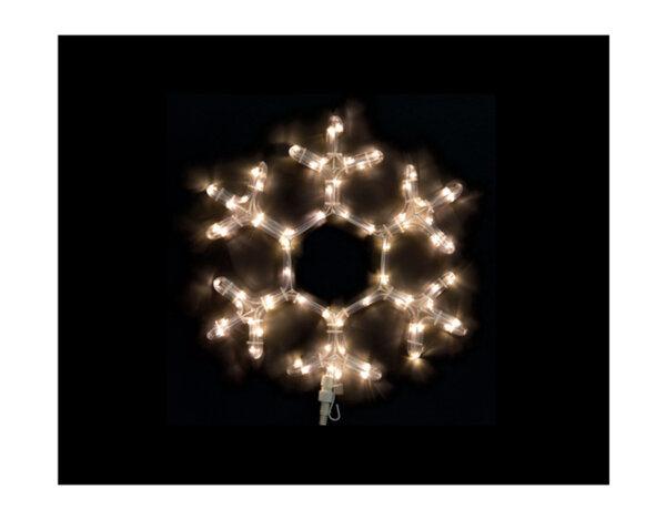 Светеща снежинка - 40 cm, 72 топло бели LED лампички