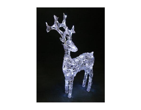 Светеща коледна фигура, елен - 80 LED лампички, 70 x 44 cm