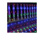 Мрежа със 160 разноцветни LED лампички - 1.5 x 1 m