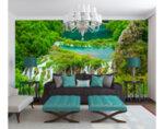 "Фототапет ""Водопад в джунгла"" - 254 x 368 cm"