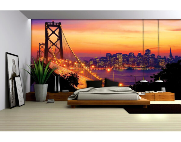 "Фототапет ""Залез над Сан Фран"" - 254 x 368 cm"