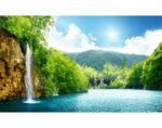"""Фототапет """"Водопад при езеро"""" - 184 x 254 cm"""