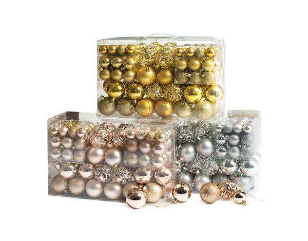 Коледни топки - 3 cm, 100 бр. в кутия