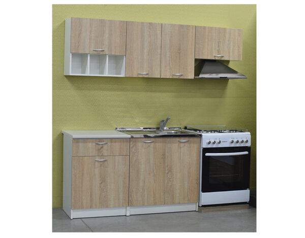 """Кухня """"Дара"""" 2.0 - дъб сонома и бяло"""