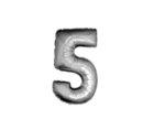 Фолиева цифра/балон, 100 cm - сребърна, от 0 до 9