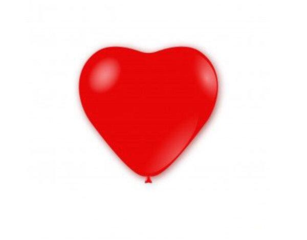 Балони под формата на сърца - червени, 10 бр.