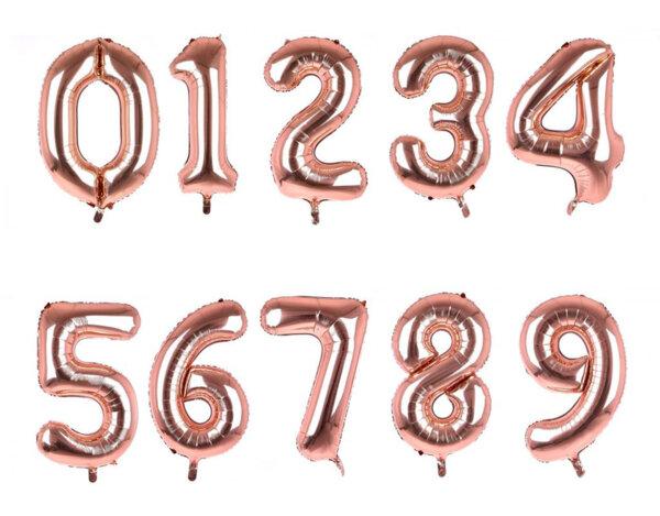 Фолиева цифра/балон, 100 cm - златна, от 0 до 9