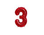 Фолиева цифра/балон, 80 cm - червена, от 0 до 9