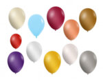 Балони металик, 25 cm - 10 бр., различни цветове