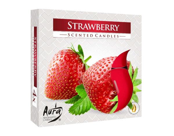 Ароматизиранa свещ Strawberry - 4 бр.