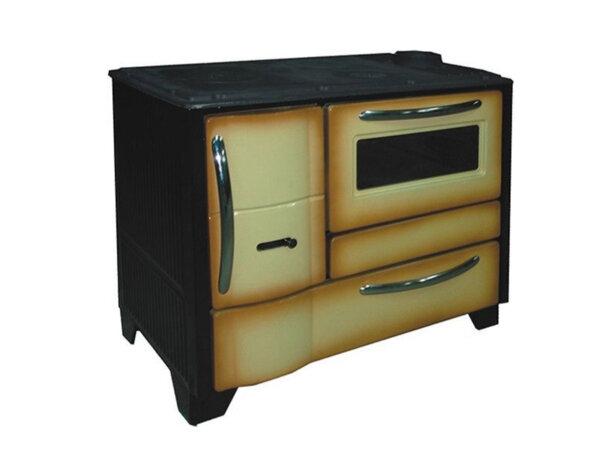 Готварска печка БК-50, кафява - чугунен плот, 10 kW
