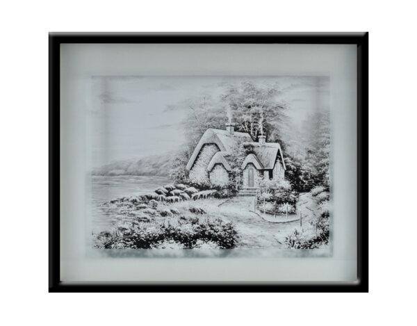 """Картина """"Къщичка в гората"""" - 41 х 51 cm"""