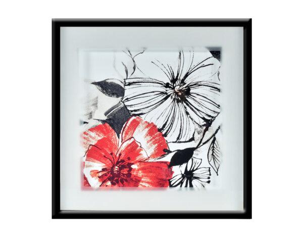 "Картина ""Черно и червено"" - 53 х 53 cm"