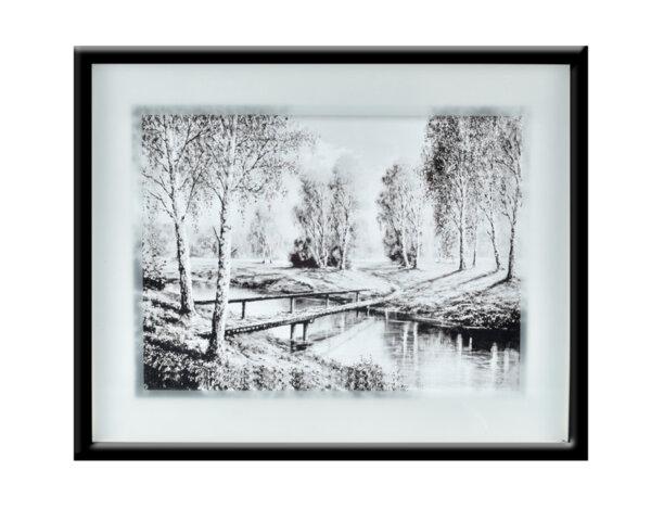 """Картина """"Под тополите"""" - 41 х 51 cm"""