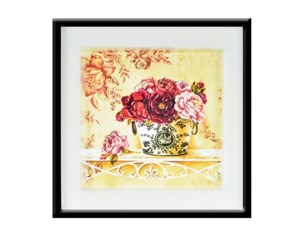 """Картина """"Пъстри божури"""" - 53 x 53 cm"""