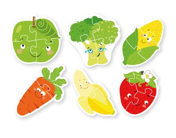 """Пъзел """"Плодове и зеленчуци"""" - 6 части"""