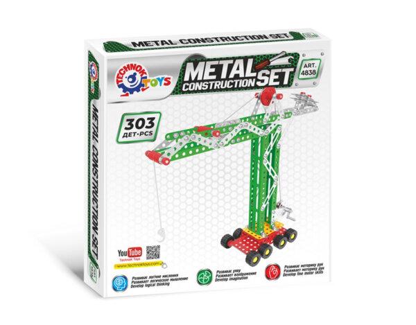 Метален конструктор, 303 части -  21 x 16 x 4 cm