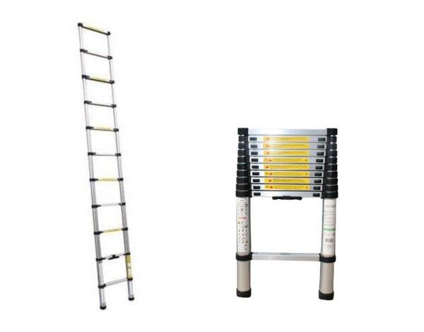 Алуминиева стълба, телескопична - 1 х 11, 150 kg, 3.2 m