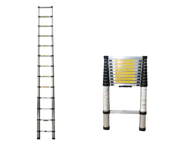 Алуминиева стълба, телескопична - 1 х 13, 150 kg, 3.8 m