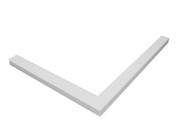 Квадратен поддушов профил, полиуретанов - 90 х 90 cm, бял