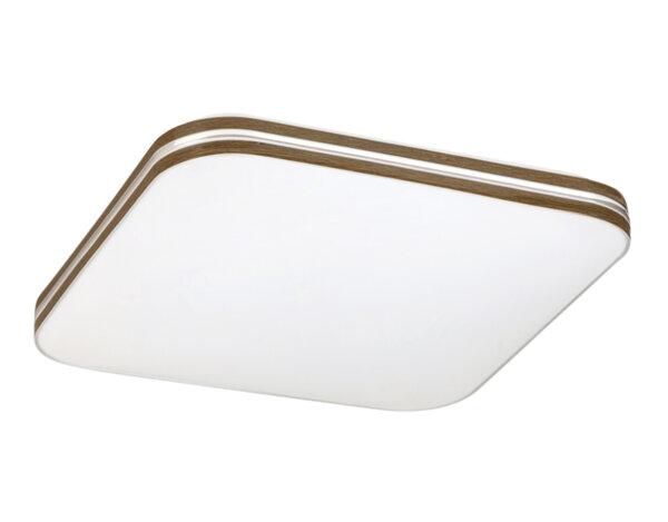 "Квадратен LED плафон ""Оскар"", бял/орех - 18 W, 4000 K"